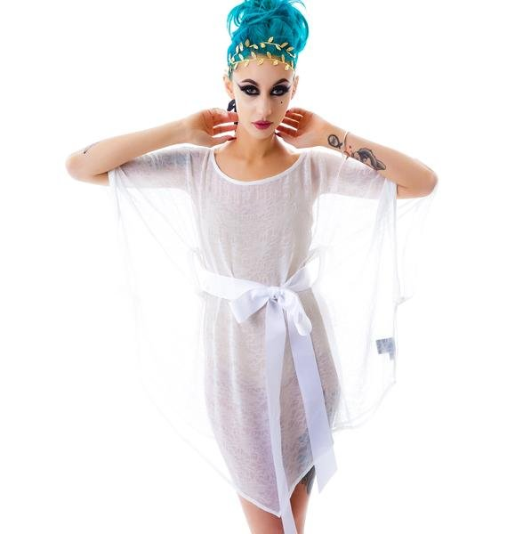 Widow A Haunting Wrinked Chiffon Tunic