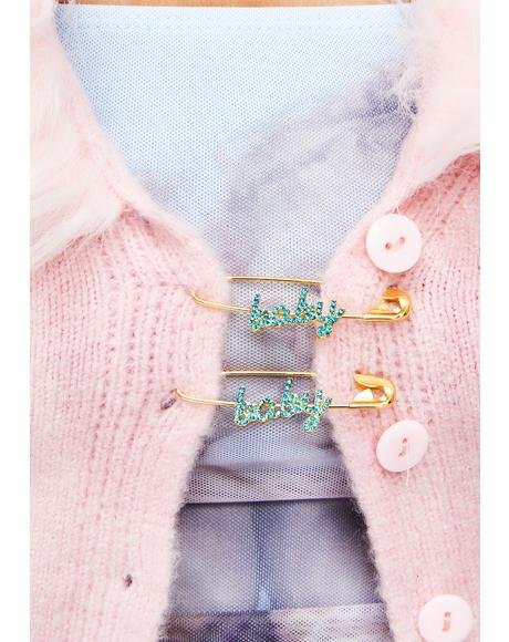 Be My Baby Safety Pin Set