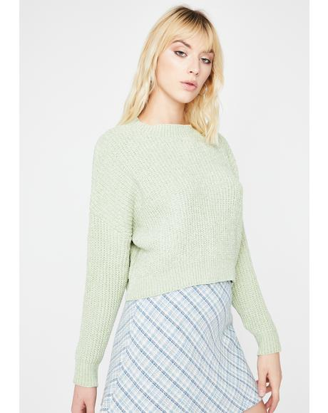 Mint Hey Angel Knit Sweater