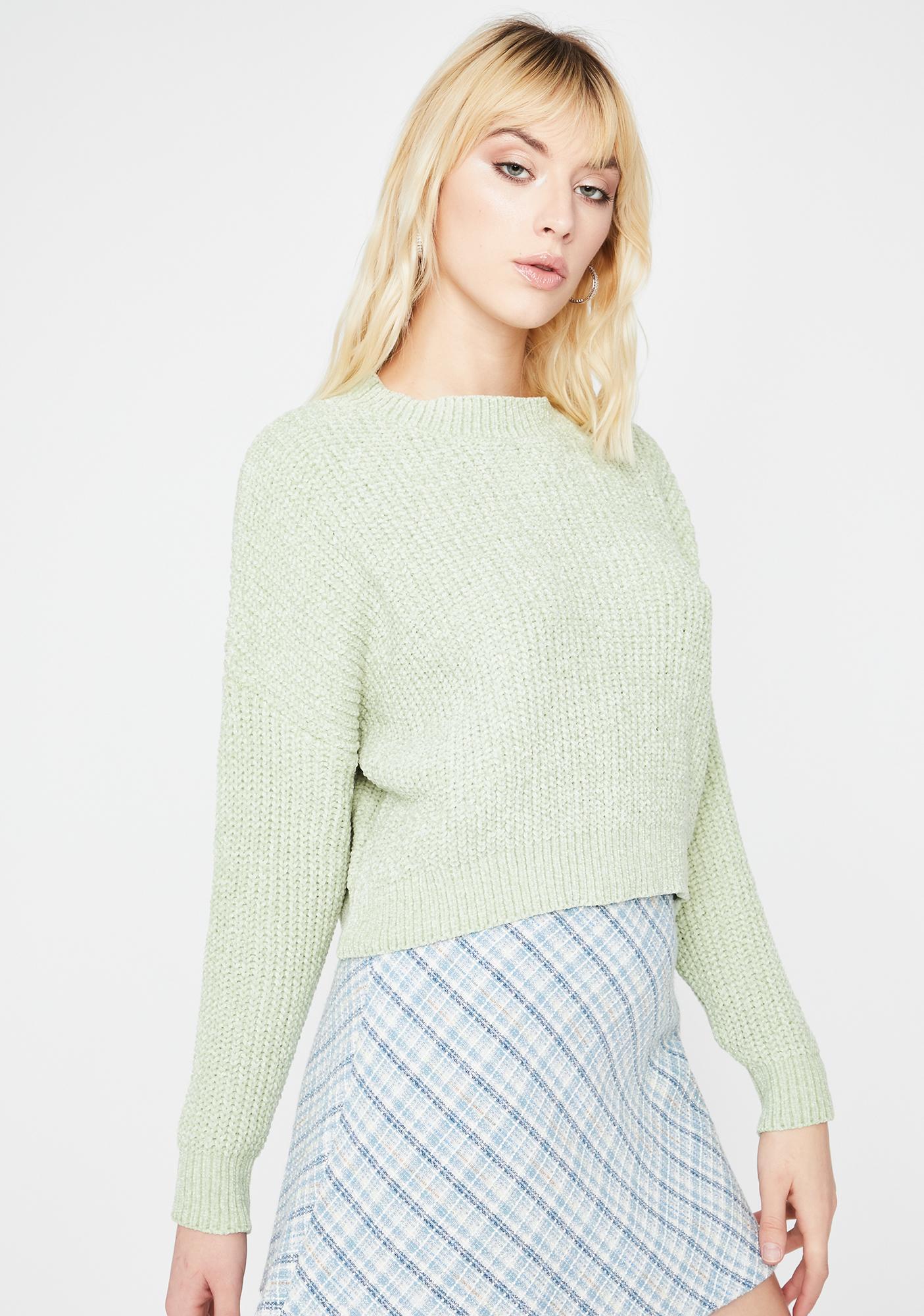 Mint Hey Angel Knit Sweater