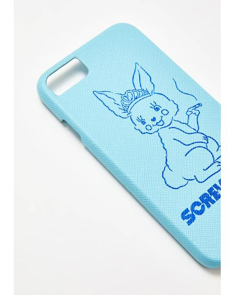 Screw You Bunny iPhone Case