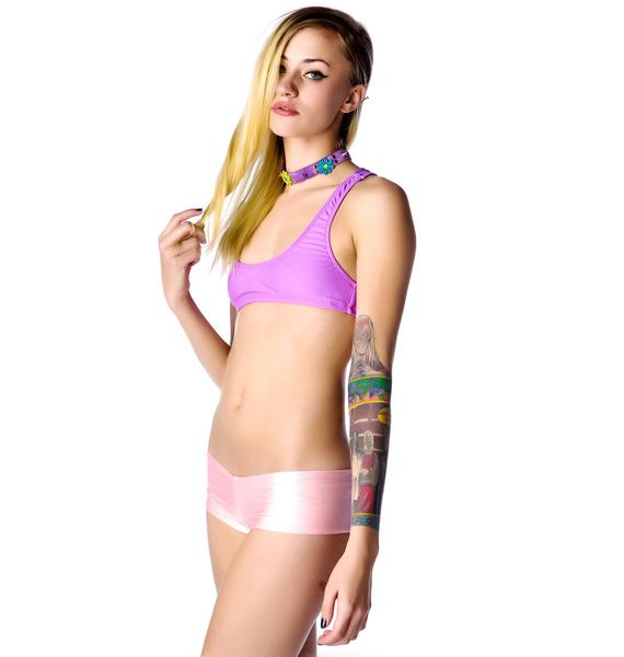Lolli Swim Sunday Girl Heart Cut Out Bikini Top