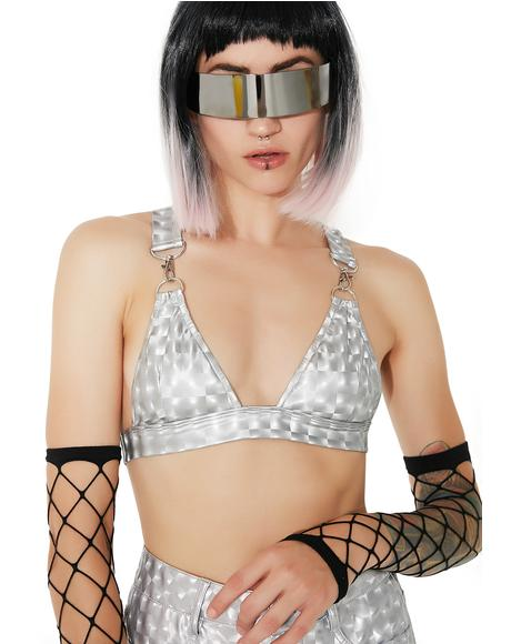 Hyperion Hologram Bra Top