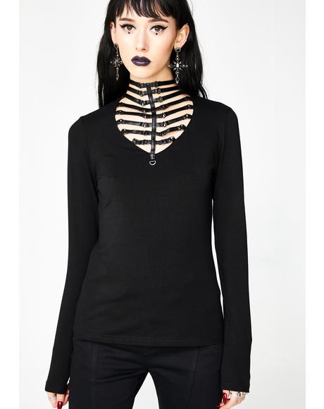 Punk Hollow Knit Shirt
