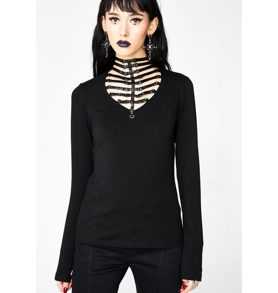 Punk Rave Punk Hollow Knit Shirt