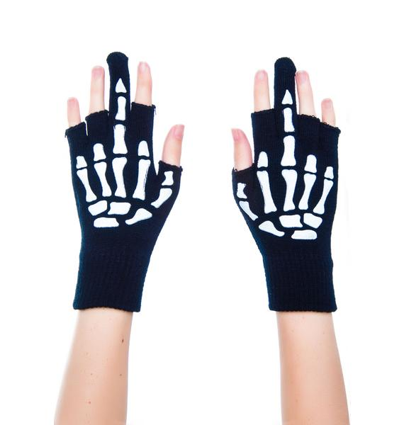 Too Fast Up Yours Fingerless Gloves