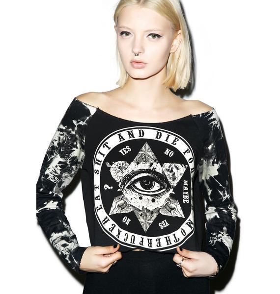 Eat Shit & Die Rebel Crop Sweatshirt