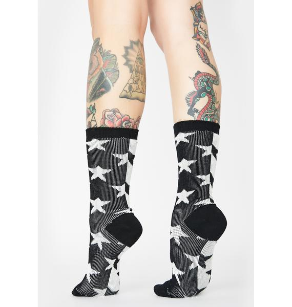 Feelin' Starstruck Crew Socks