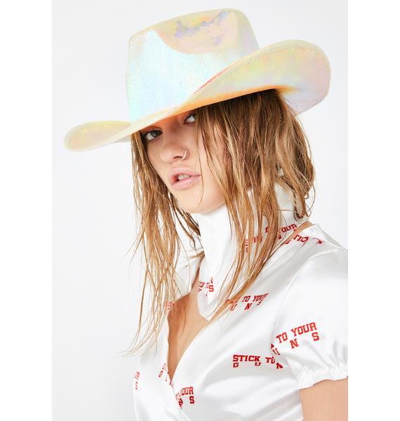 Good Times Eyewear Rave Rodeo Iridescent Cowboy Hat
