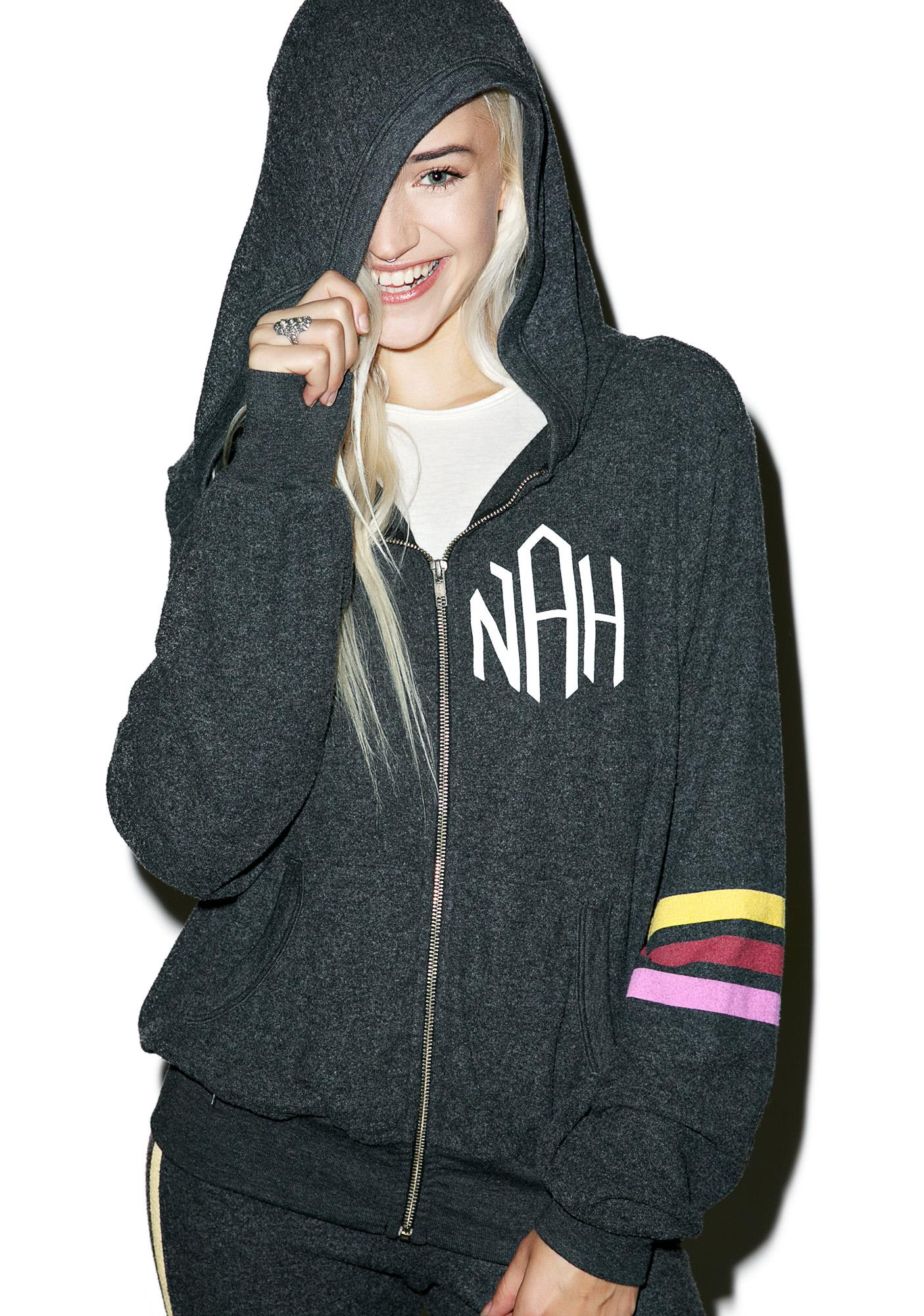 Wildfox Couture Nah Sports Malibu Zip Up