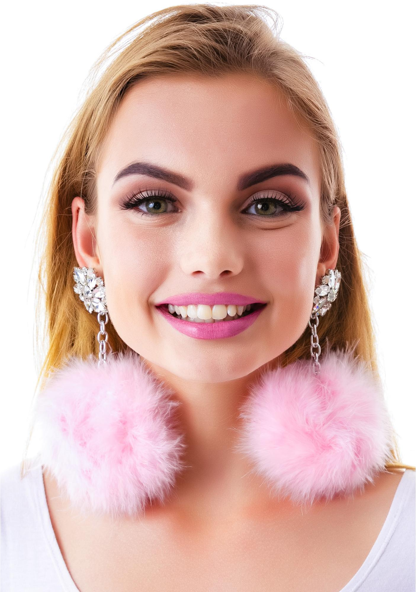 Diamond Dollz Pom Pom Earrings