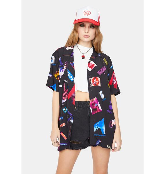 HUF x Playboy Collage Woven Button Up Shirt
