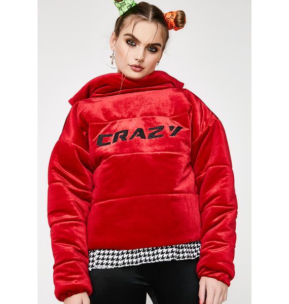 Sugarpills Crazy Velvet Puffer Jacket