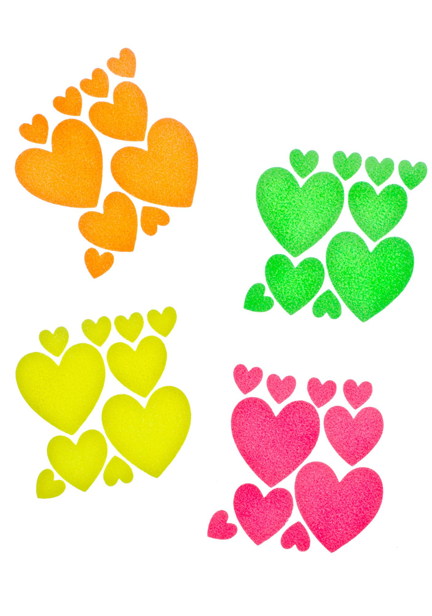 Sasswear Heart Blacklight Body Stickers