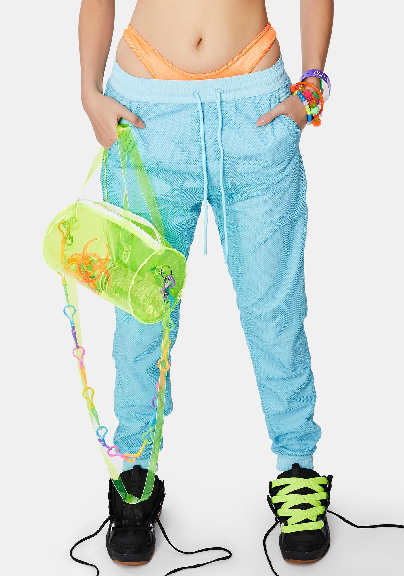 Criminal Damage Mesh Overlay Nylon Jogger Pants