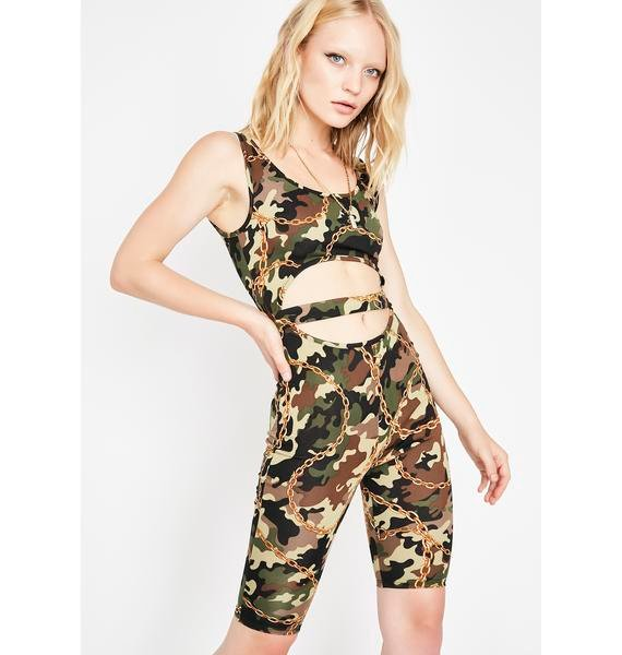 Not Casual Camo Catsuit