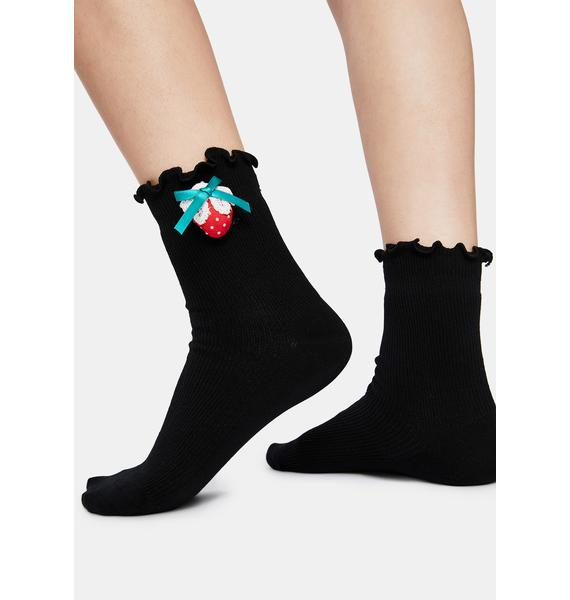 Shadow Sweetest Summer Strawberry Ankle Socks
