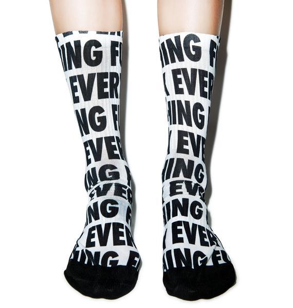 Kill Brand Fuck Everything Socks