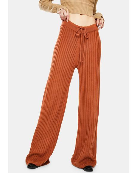 Rust Hendrix Knit Pants