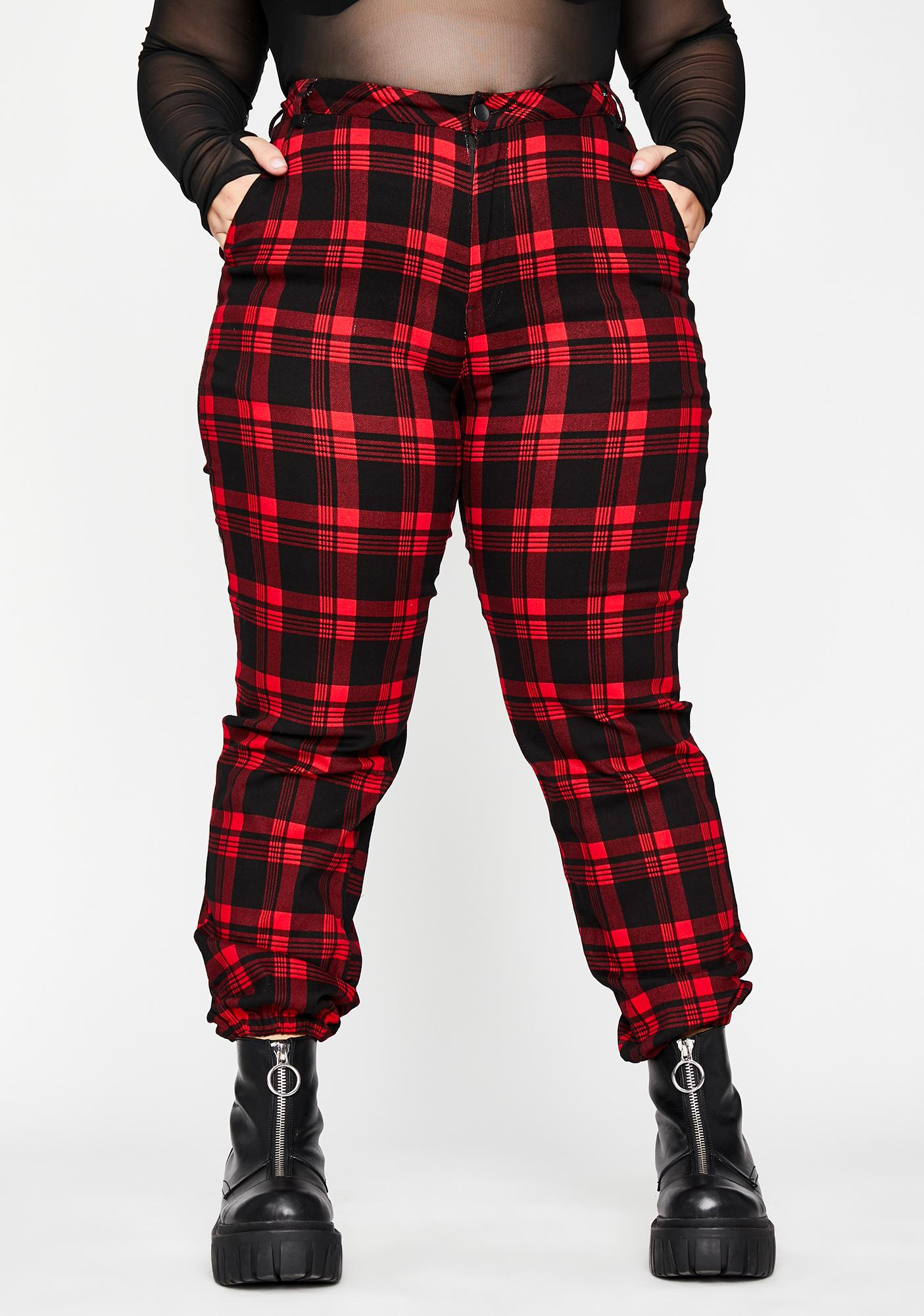Lil Bloody Misconduct Plaid Joggers