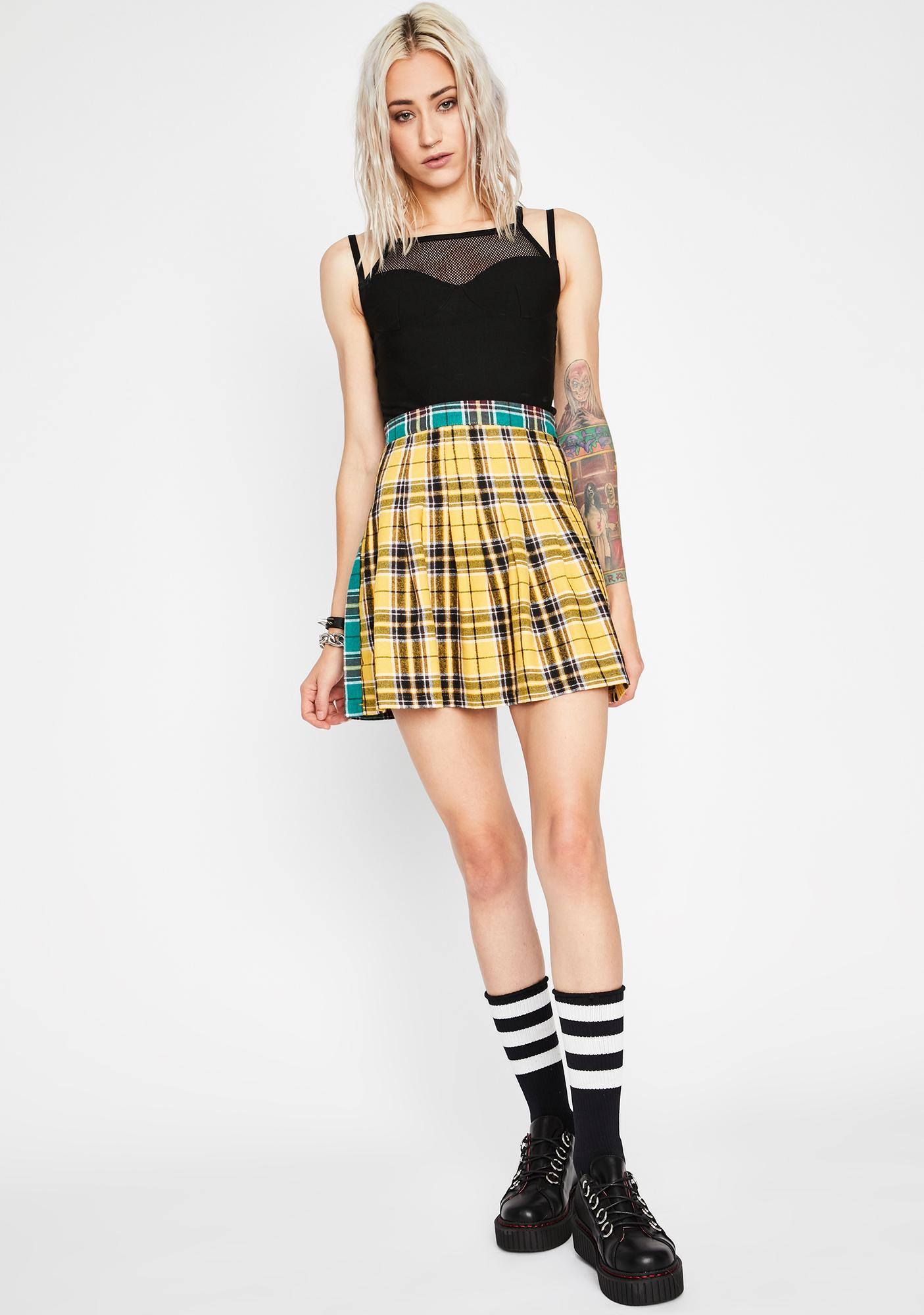 Honey Swings Both Ways Plaid Skirt