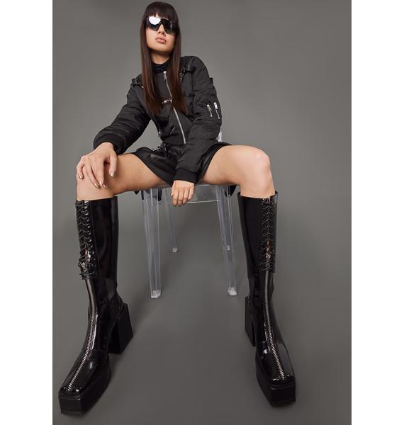 Poster Grl Main Character Patent Platform Boots