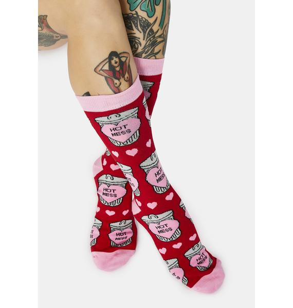 Dash of Pep Hot Mess Crew Socks