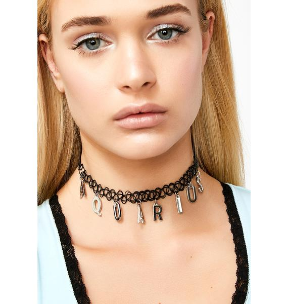 Age Of Aquarius Tattoo Choker