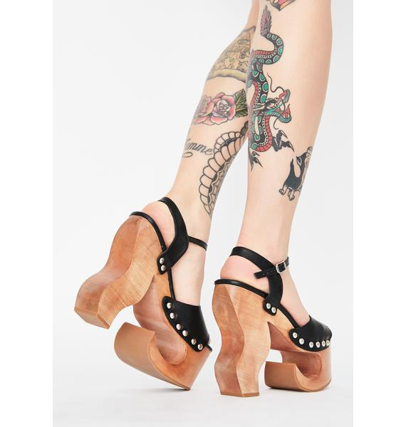 Current Mood Camp Tramp Wooden Heels