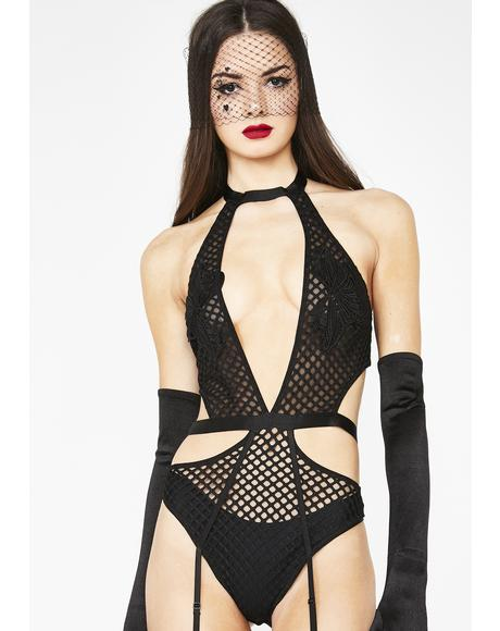 Avis Fishnet Bodysuit