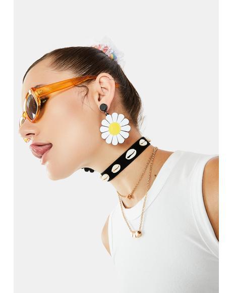 Take Your Pick Daisy Earrings