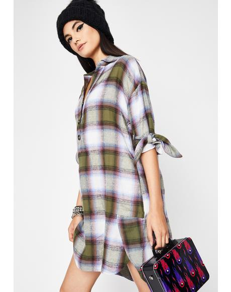 Take The Fall Plaid Dress