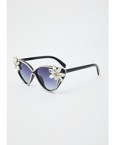 Sophisticated Glam Rhinestone Sunglasses