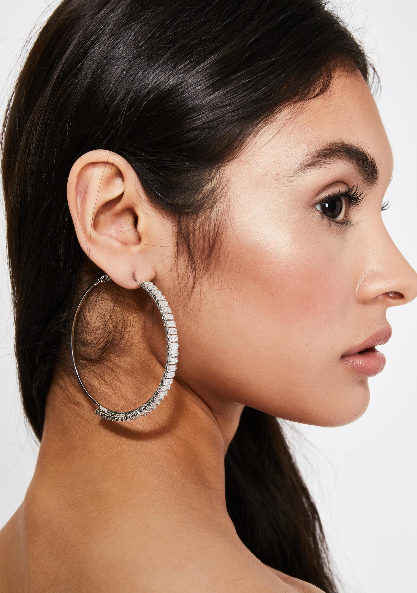 Designer Bling Hoop Earrings