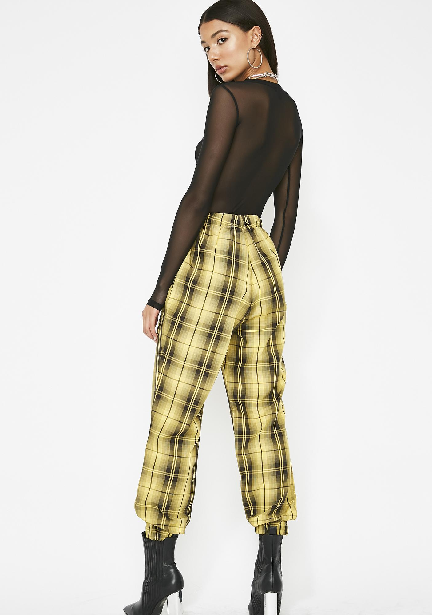 Werkin' Overtime Plaid Joggers