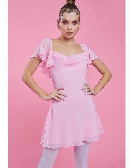 Ballet Bombshell Chiffon Mini Dress