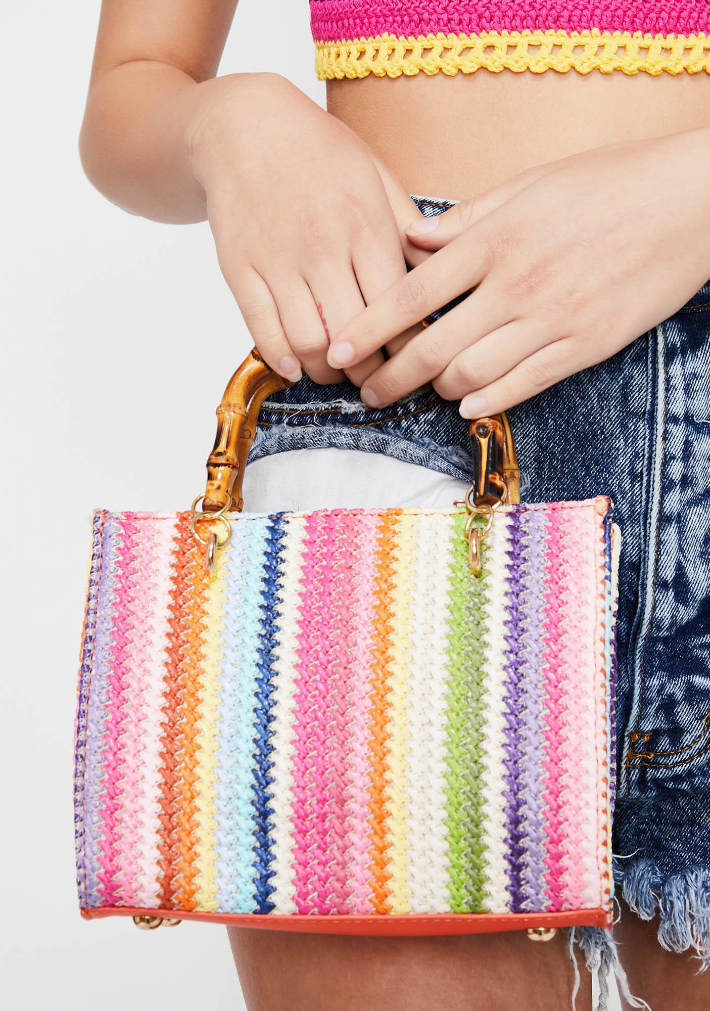 Tropical Mode Straw Bag