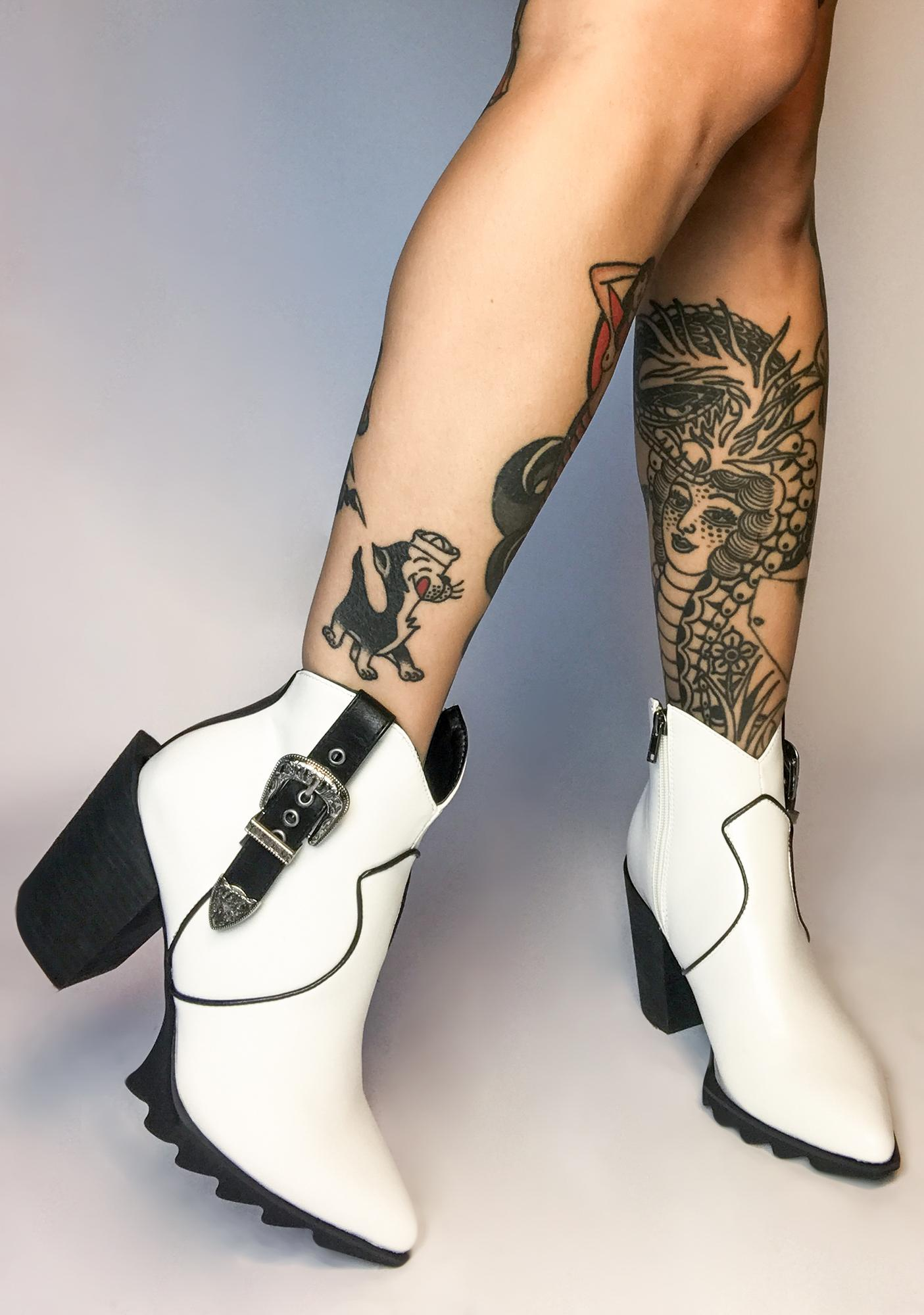 Lamoda White Catch The Flow Western Boots