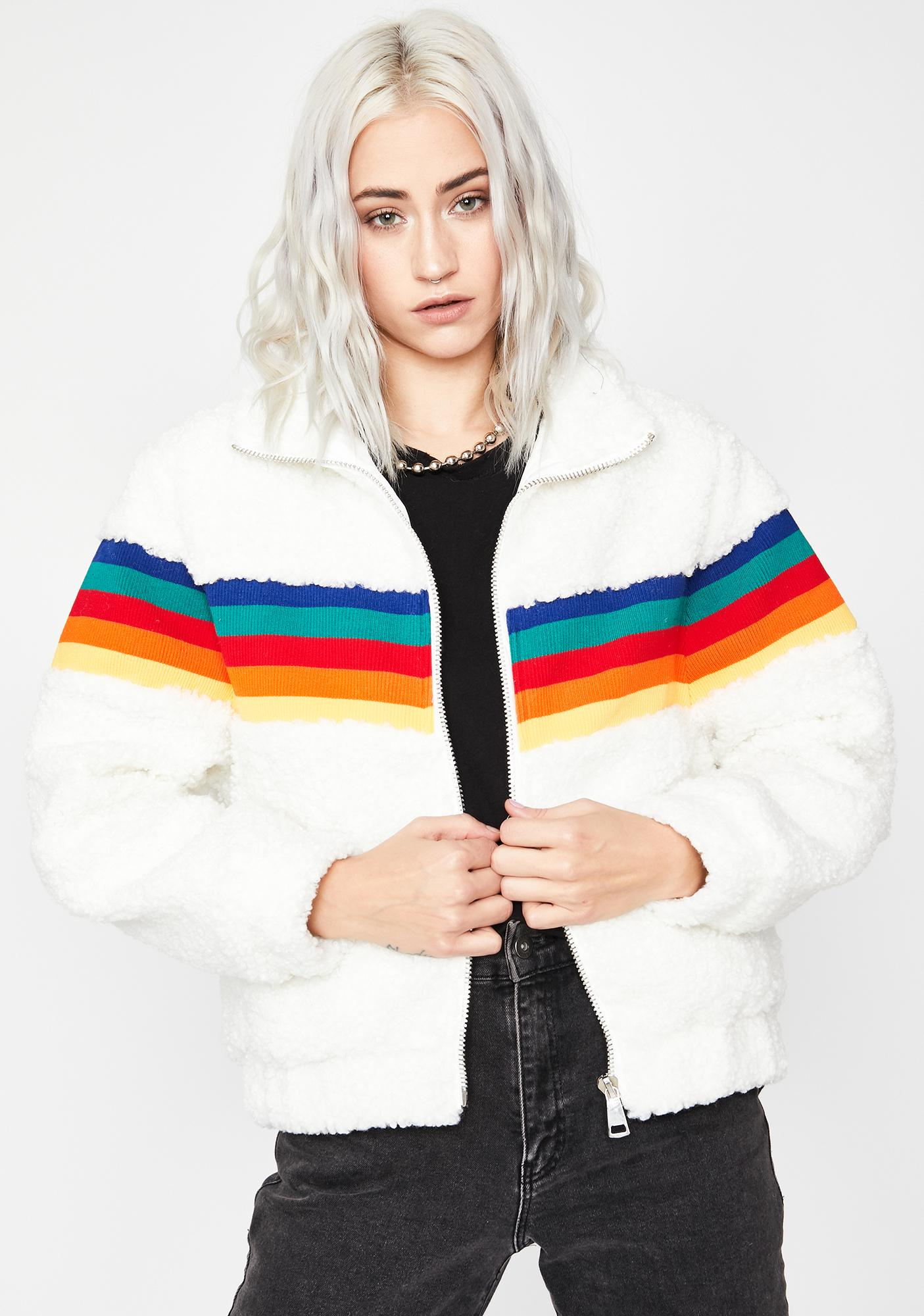 Retro Riot Faux Fur Jacket