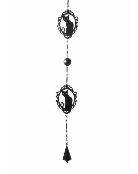 Feline Silhouette Hanging Decoration