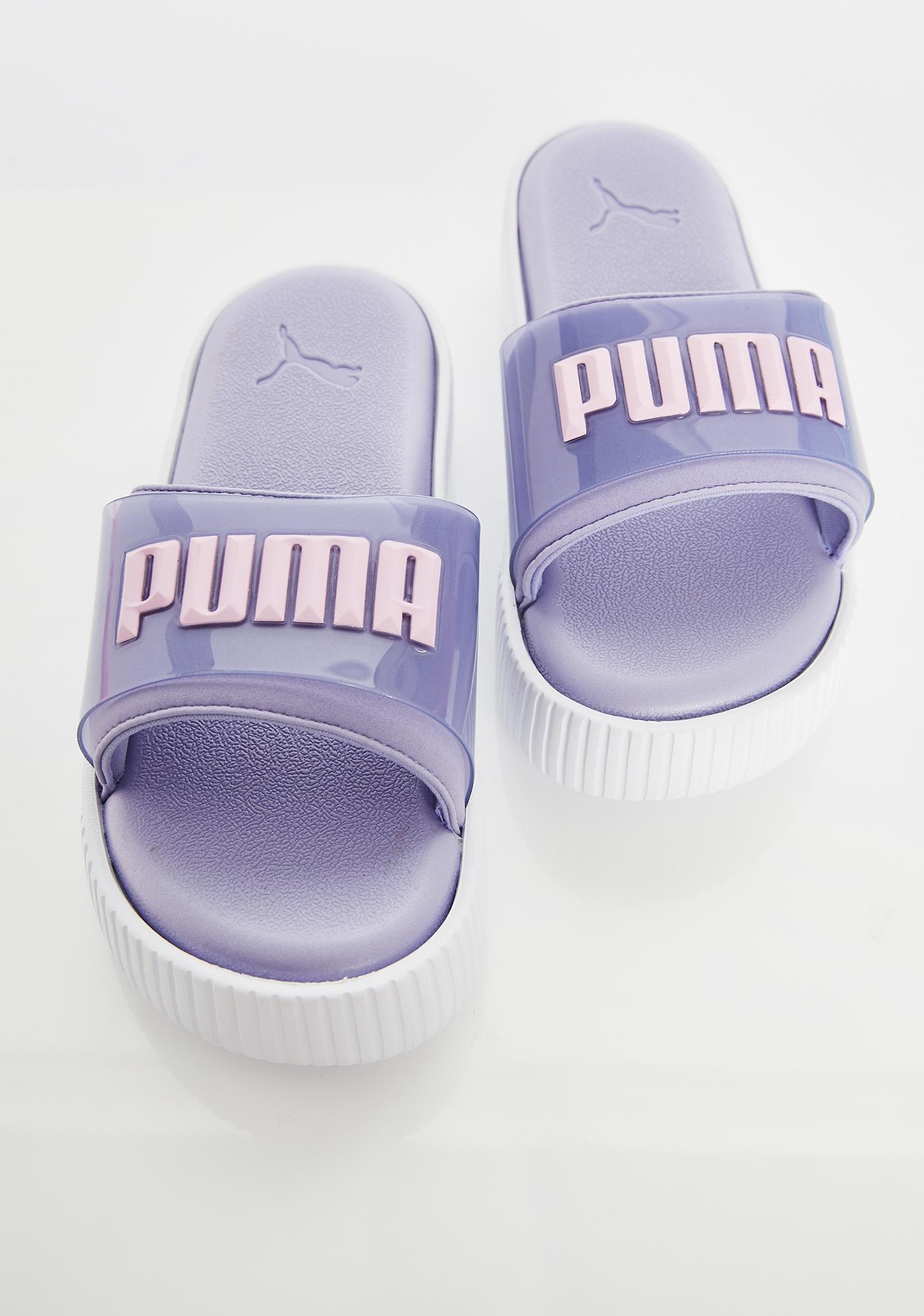 PUMA Lilac Fashion Wns Platform Slides