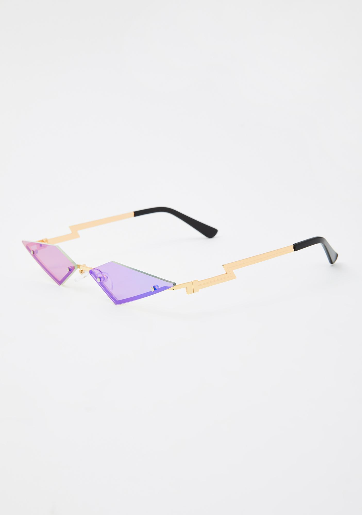Pixie Modern Rockstar Triangle Sunglasses