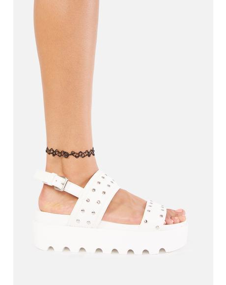 Solitude Studded Platform Sandals