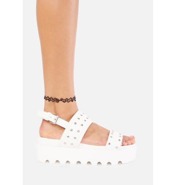 Koi Footwear Solitude Studded Platform Sandals