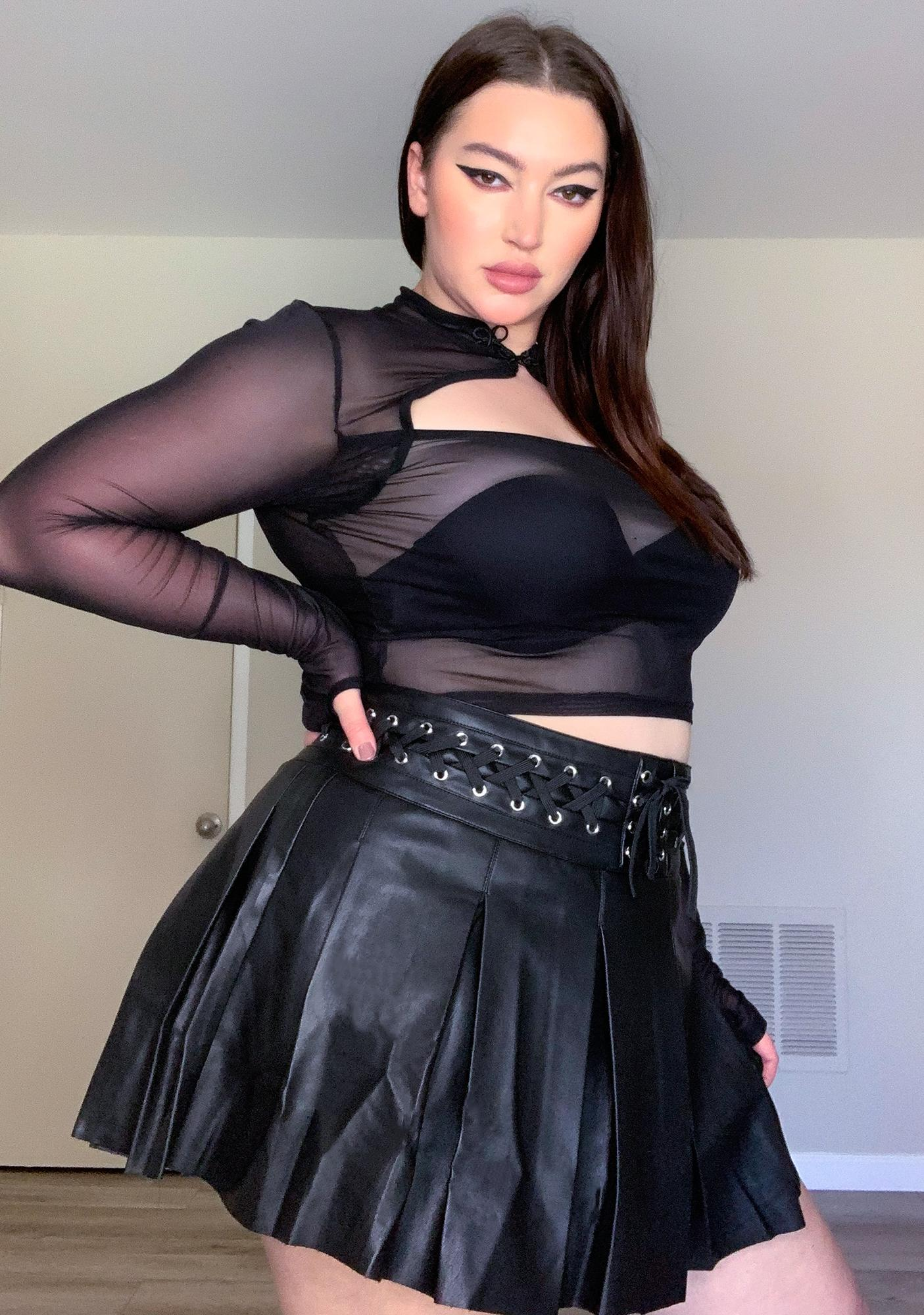 Current Mood Deadly Dark Inferno Mesh Top