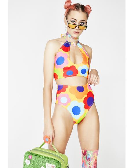 60s Flur High-Rise Bikini Bottoms