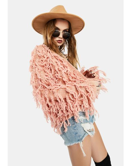 Blush Wild Days Fringe Jacket