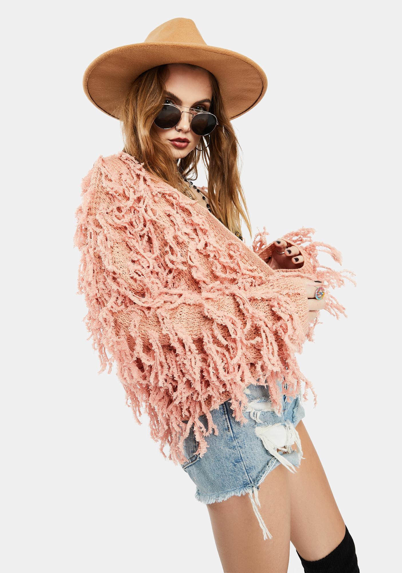 Blush Wild Days Fringe Jacket