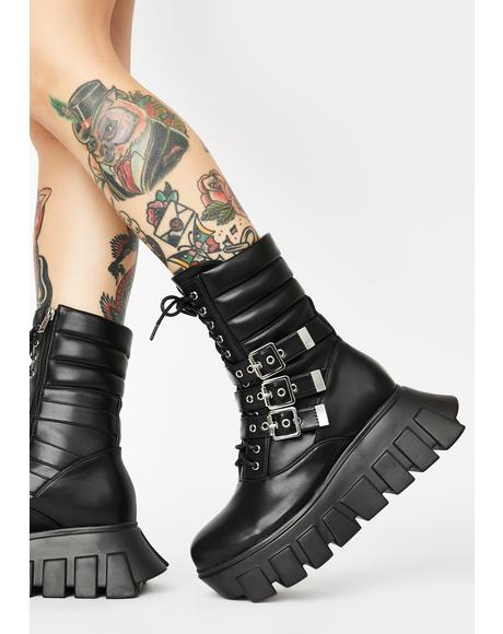 Buckle Up Tight Ankle Boots
