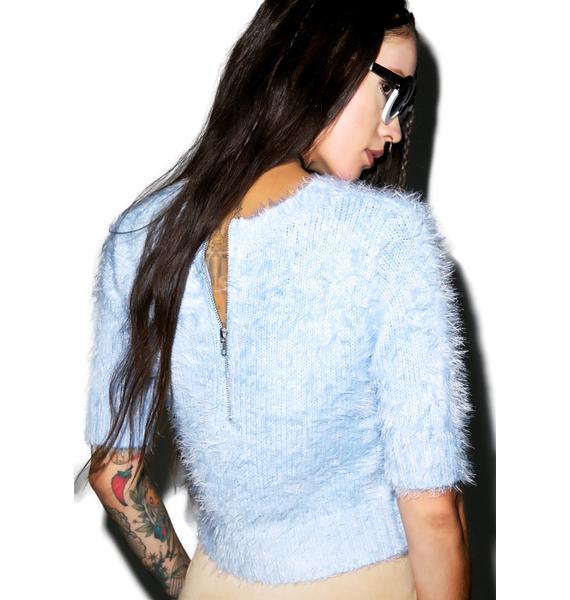 Glamorous Felicia Fuzzy Crop Top